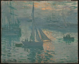 Claude Monet, Sunrise (Marine), 1873