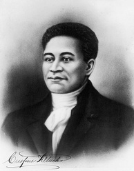 "Crispus Attucks, the first ""martyr"" of the American Revolution. He was of Native American and African-American descent."