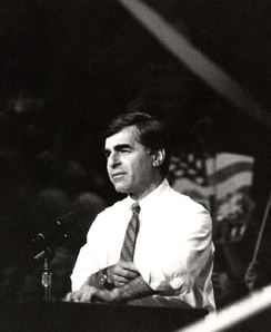Michael Dukakis former Governor and 1988 United States presidential election Democratic Party nominee