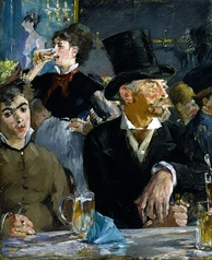 The Cafe Concert, 1878.  Scene set in the Cabaret de Reichshoffen on the Boulevard Rochechouart, where women on the fringes of society freely intermingled with well-heeled gentlemen.[11] The Walters Art Museum.