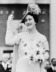 The Queen Mother wearing the Queen Anne and Queen Caroline pearls, 1939