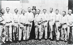 The first England team to tour southern Australia in 1861–62