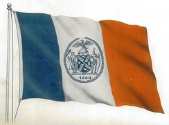 The city's first official flag, 1915.