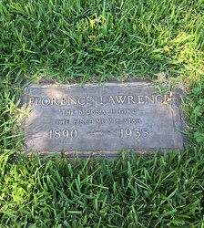 Grave of Florence Lawrence at Hollywood Forever Cemetery