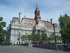 Completed in 1878, Montreal City Hall is the seat of local government.