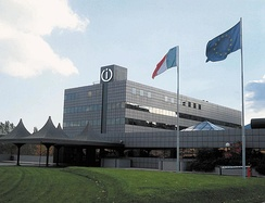 Indesit Headquarters in Fabriano, Province of Ancona. The home appliance sector represents the core of the regional industry