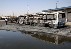 The Baghdad bus station was the scene of a triple car bombing in August 2005 that killed 43 people.