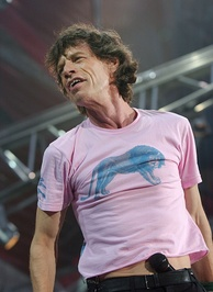 Jagger live at the San Siro, Milan, Italy, in 2003