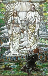 Mormon depiction of God the Father and the Son Jesus