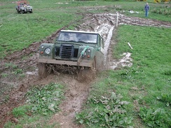 Land Rover Series III mud plugging