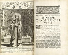 Confucius, Philosopher of the Chinese, or, Chinese Knowledge Explained in Latin, published by Philippe Couplet, Prospero Intorcetta, Christian Herdtrich, and François de Rougemont at Paris in 1687