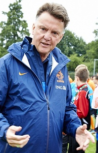 Van Gaal with the Dutch national team in 2013