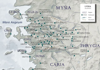 Smyrna among the cities of Ionia and Lydia (ca. 50 AD)