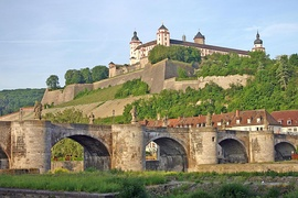 Fortress Marienberg and the Alte Mainbrücke in Würzburg
