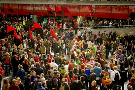 Syndicalist mayday in Stockholm, 2010