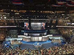 Bloomberg speaking at the 2016 Democratic National Convention