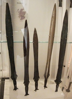 Bronze swords from the Museum of Scotland.