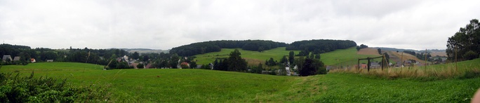 A view of the Lusatian Highlands