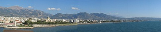 Patras' western seafront.