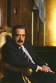 Raúl Alfonsín, first democratically elected president following the military government