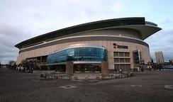 An exterior shot of the arena