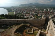 The medieval fortress overlooking the city of Ohrid in the Republic of Macedonia