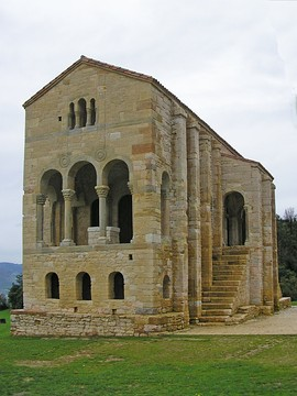 Santa María del Naranco, Oviedo, Spain, AD 848. Built as a palace for Ramiro I of Asturias.