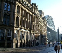 Side, a street in Newcastle near the Tyne Bridge