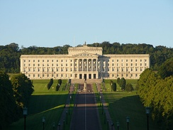 Parliament Buildings at Stormont, Belfast, seat of the assembly