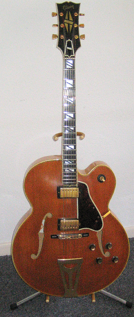 The Gibson Super 400 CES, an electric archtop.
