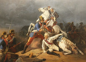 A wounded Suvorov saved by Grenadier Novikov at the Battle of Kinburn
