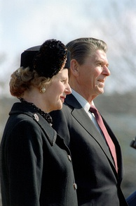 Margaret Thatcher and Ronald Reagan in 1981