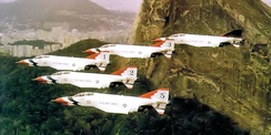 F-4Es in Thunderbird livery, about 1972.