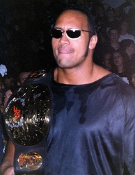 "As part of The Corporation, the Rock feuded with Stone Cold Steve Austin and stole Austin's personalized WWF Championship, the ""Smoking Skull"" belt"