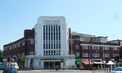 A former cinema, now a gymnasium run by Nuffield Health, at the Hendon Central crossroads