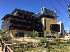View of Austin Central Library from Cesar Chavez Street