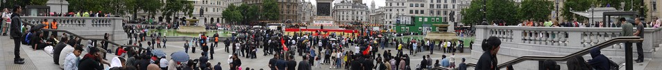 Panorama of the Black July's 26th anniversary remembrance day observed at Trafalgar Square in London in 2009