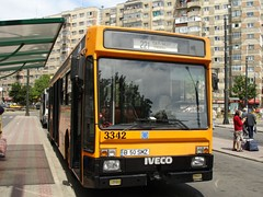 Iveco TurboCity-U 480 bus in Bucharest, Romania (operated by RATB)