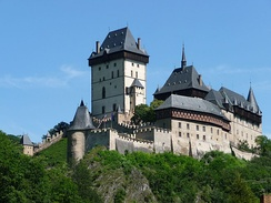 Medieval castles such as Karlštejn are frequent tourist attractions.