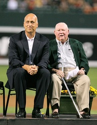 Ripken (left) is honored by the Orioles in 2007