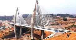 Mohammed VI bridge, longest suspended bridge in Africa