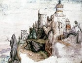 Castle Segonzano, 1502, gouache and watercolour on paper