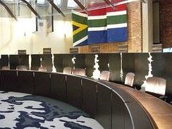 The courtroom of the Constitutional Court of South Africa