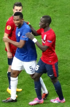 Gueye, then playing for Lille, and Samuel Eto'o
