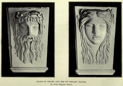 Thame and Isis, carved by Anne Seymour Damer.