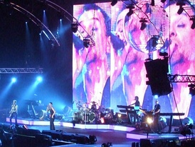 Tour of the Universe concert at London's O2 Arena, December 2009.