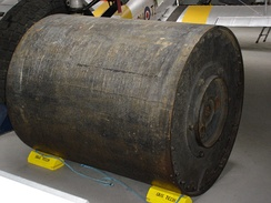 A real bouncing bomb - one of many exhibits