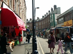 Electric Avenue, inspiration of the Eddy Grant single, part of Brixton Market, and site of the 1999 bombing