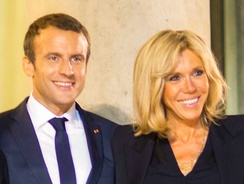 Emmanuel Macron and his wife Brigitte Macron (pictured) in 2017