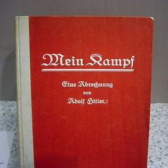 Mein Kampf in its first edition cover